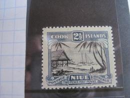 Niue 1932 Sailing Ships Palm Trees  Aborigens MNH - Niue