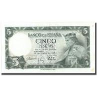 Billet, Espagne, 5 Pesetas, 1954, 1954-07-22, KM:146a, TTB+ - [ 3] 1936-1975 : Régence De Franco