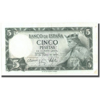 Billet, Espagne, 5 Pesetas, 1954, 1954-07-22, KM:146a, TTB+ - [ 3] 1936-1975 : Regency Of Franco