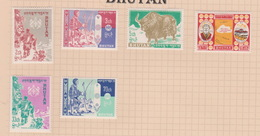 Bhutan SG 1-6 1962 Definitives, 6 Val, Mint Hinged - Bhutan