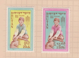 Bhutan SG 13-14 1963 Freedom From Hunger, Mint Hinged - Bhutan