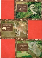 Animals And Bird.Australia 1983. Lot Of 3 Postcards Past Mail. - Animals