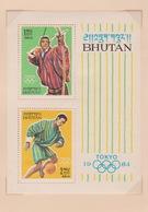 Bhutan SG 33AMS 1964 Tokyo Olympics, Miniature Sheet, Mint Never Hinged - Bhutan