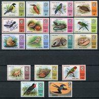 1975/6- SOLOMON ISL - BIRDS - SHELLS- 17 VAL. M.N.H.- LUXE !! - Solomon Islands (1978-...)