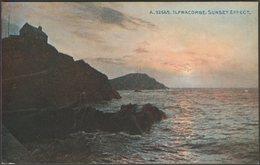 Sunset Effect, Ilfracombe, Devon, C.1910 - Photochrom Postcard - Ilfracombe
