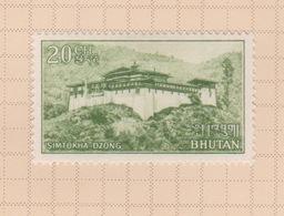 Bhutan SG 82 1966 Simtoke Fortress 20ch Green, Mint - Bhutan