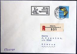 Schweiz Suisse 1950: Zu PJ137 Mi 554 Yv 506 Auf R-Brief Mit AUTOPOST-o 22.IV.51 600 Jahre Zürich Im Bund  (Zu CHF 32.00) - Pro Juventute