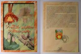 FLEUR / ORCHIDEE PAPILLON - Document Philatélique Avec Timbre Et Cachet 1er Jour - Orchidées