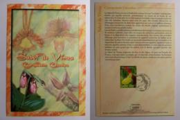FLEUR / ORCHIDEE SABOT DE VENUS - Document Philatélique Avec Timbre Et Cachet 1er Jour - Orchidées