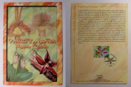 FLEUR / ORCHIDEE D' APHRODITE - Document Philatélique Avec Timbre Et Cachet 1er Jour - Orchidées