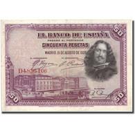 Billet, Espagne, 50 Pesetas, 1928, 1928, KM:75b, TTB - [ 1] …-1931 : Eerste Biljeten (Banco De España)