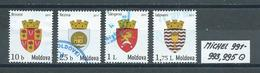 MOLDAWIEN  MICHEL 991 - 993,995 Gestempelt Siehe Scan - Moldova