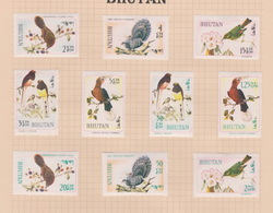 Bhutan SG 187-196 1968 Rare Birds, Mint Hinged - Bhutan