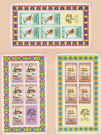 Bhutan SG 283-290 1974 Centenary Of UPU Set 8 Sheetlets, Mint Never Hinged - Bhutan