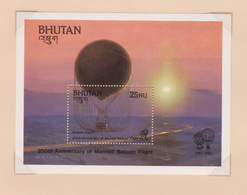 Bhutan SG 510 MS 1983 Bicentenary Manned Flight, Miniature Sheet, Mint Never Hinged - Bhutan