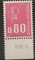 FRANCE 1974 TIMBRES 1816 TONTE TRES ROSE  MARIANNE DE BEQUET TYPE D IMPRESSION RGR - 1 - Variétés Et Curiosités