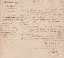 Administration Des Postes - 1834 - Creation Du Relai De Saint Loup Haute Saone - Storia Postale