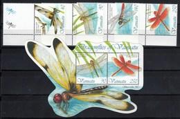 Vanuatu 2012 Dragonflies MS+4v MNH - Vanuatu (1980-...)