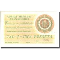 Billet, Espagne, 1 Peseta, ESPARREGUERA, Blason, 1937, 1937, NEUF - Espagne