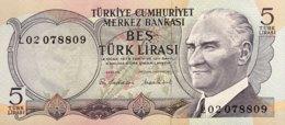 Turkey 5 Lira, P-185 (1976) - UNC - Turquie