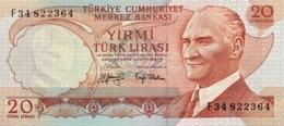 Turkey 20 Lira, P-187a (1976) - UNC - Türkei