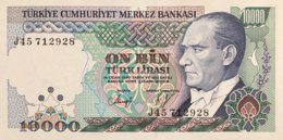 Turkey 10.000 Lira, P-200 (1989) - UNC - Turquie