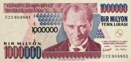 Turkey 1 Million Lira, P-213 (1995) - UNC - Türkei