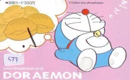 DORAEMON * Carte Prépayée Japon * MANGA * Chat Robot (577) Cinéma Animé  CAT Japan PHONECARD * MOVIE FILM * - Comics