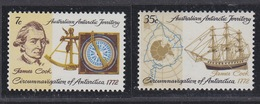 AAT 1972 200th Anniversary Of Cook In The Antarctic 2v  ** Mnh (41531A) - Australisch Antarctisch Territorium (AAT)