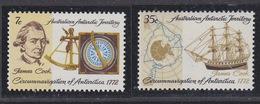 AAT 1972 200th Anniversary Of Cook In The Antarctic 2v  ** Mnh (41531A) - Australian Antarctic Territory (AAT)
