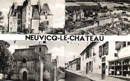 CPSM Prtit Format NEUVICQ LE CHATEAU  Multivues RV - France