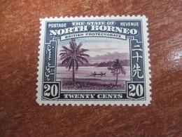 Stete Of North Borneo  1939 Palm Tress MVLH - North Borneo (...-1963)