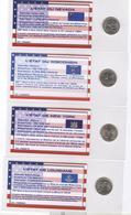 Lot De 12 Quarter Des états - Sous Blisters 8 X 17 Cm Avec Description De L'état Et Son Historique Au Verso - Stati Uniti