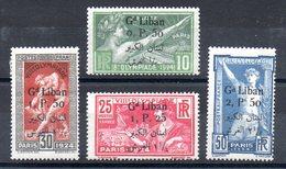 GRAND LIBAN - YT N° 45 à 48 - Neufs * - MH - Cote: 160,00 € - Grand Liban (1924-1945)