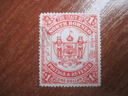 Stete Of North Borneo  1894  Arms One  Dollar  CTO Glue - North Borneo (...-1963)