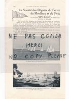1 Page D'annuaire An 1925 Championnat D' Aviron à ARCACHON L' été  Société Des Régates Du Ferret Du Moulleau Et Du Pyla - France