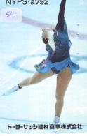 Télécarte JAPON * FIGURE SKATING (54) KUNSTSCHAATSEN * Patinage Artistique * ICE DANCING SPORT Phonecard Japan SCHAATSEN - Sport