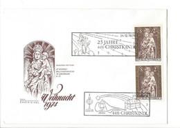 21220 - Christkindl 1974 Lettre 24.12.1974 Madonna Mit Kind St.Konrad Wallfahrtskirchr - Noël