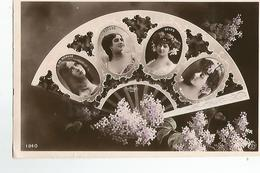 CPA Fantaisie Femmes Signé Reutlinger Eventail Toledo Delys  Robinne N°1840 - Femmes