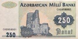 Azerbaijan 250 Manat, P-13b (1992) - UNC - Azerbaïdjan