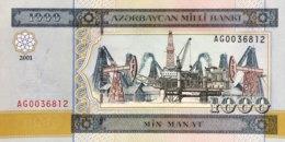 Azerbaijan 1.000 Manat, P-23 (2001) - UNC - Azerbaïdjan