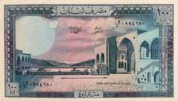 Lebanon 100 Livres, P-66d (1988) - UNC - Liban