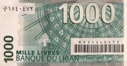 Lebanon 1.000 Livres, P-84a (2004) - UNC - Liban