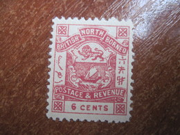 British North Borneo  1888-92  Arms 6 Cents  MNH - North Borneo (...-1963)