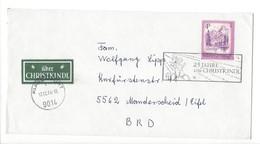 21221 - Christkindl 1974 Lettre Pour Manderscheid BRD 25.Jahre Christkindl  + Vignette über Christkindl - Noël