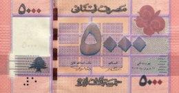 Lebanon 5.000 Livres, P-91a (2012) - UNC - Liban