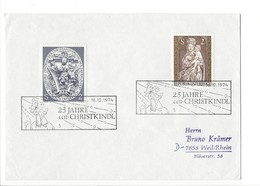 21222 - Christkindl 1974 Lettre Pour Weil/Rhein 25.Jahre Christkindl - Noël