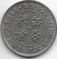 Hong Kong  50 Cents 1951 Km 27.1 Vf - Hong Kong