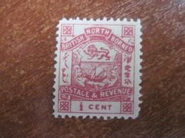 British North Borneo  1888-92  Arms 1/2 Cents  MNH - North Borneo (...-1963)