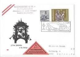 21223 - Christkindl 1975 Lettre Nachnahme  Pour Dornbirn 06.01.1975 - Noël